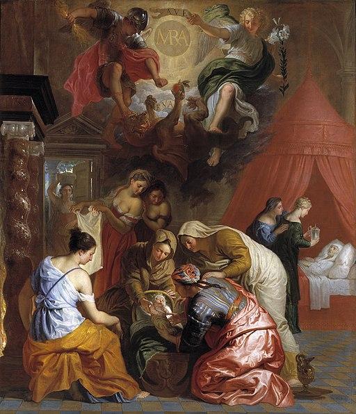 Erasmus Quellinus (II) - El Nacimiento de la Virgen, 1650-1660