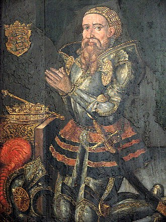 Eric II of Denmark - 1575 portrait in the Ribe Cathedral