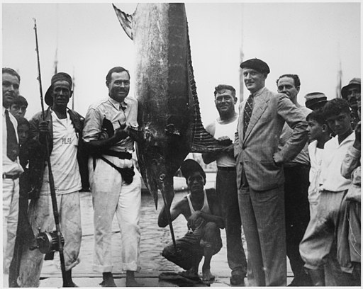 Ernest Hemingway and Others with Marlin July, 1934 - NARA - 192675