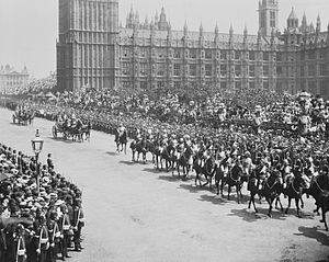 Recessional (poem) - Indian Cavalry passing the Houses of Parliament, 22 June, 1897