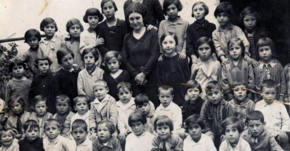 Escuela en España ca. 1920