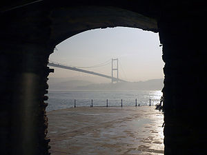 Esma Sultan Mansion - Bosporus Bridge seen from the inside of the mansion