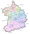 Essen - Stadtteile, Stadtbezirke und Nachbarstädte.png