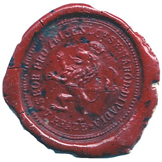 National Theatre (Prague) - Seal Council for the establishment of the National Theatre in Prague, 1851