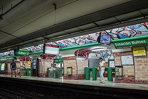 Bulnes (Buenos Aires Underground) - Image: Estacion Bulnes