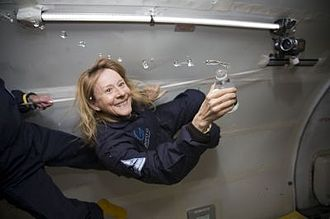 "Esther Dyson - Dyson said, ""I'm flying!"", 2007 courtesy Zero-G"