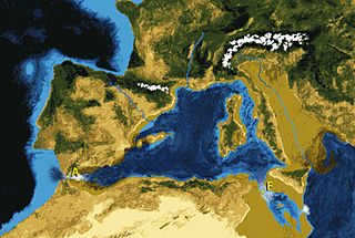 Theoretical refilling of the Mediterranean Sea between the Miocene and Pliocene Epochs