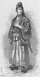 The French Navy officer Eugène Collache fought in samurai attire.