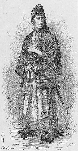 Eugène Collache - Eugène Collache in samurai attire