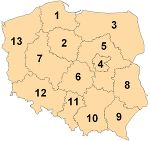 European Parliament constituency - Image: European Parliament constituencies Poland