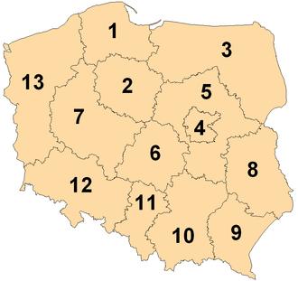 European Parliament constituency - Image: European Parliament constituencies Poland