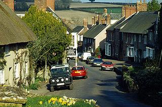 Evershot village in the United Kingdom