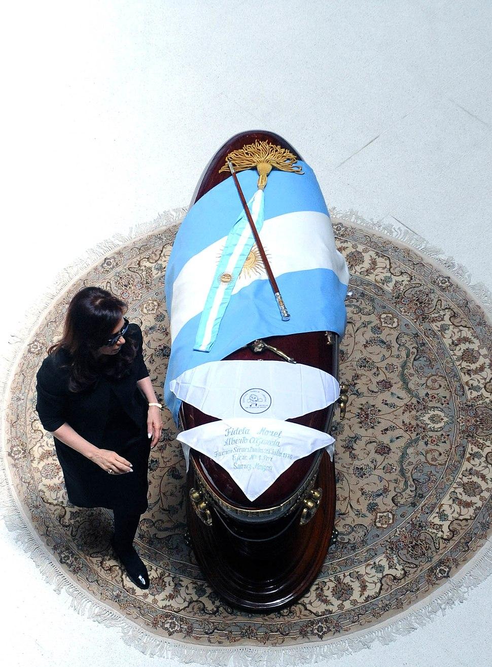 Exequias de Néstor Kirchner en Casa Rosada 2