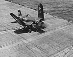 F4U-5P Corsair of VC-62 folding wings aboard USS Leyte (CV-32), circa in 1950.jpg