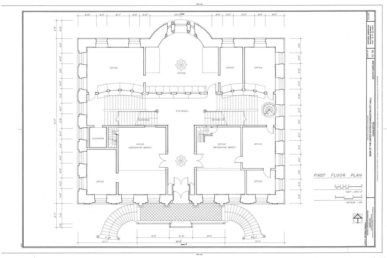 File First Floor Plan Bank Of The United States 80