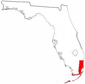 Tequesta - Approximate territory of the Tequesta in the 16th century