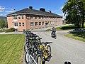 FRYAL SKOLE Søndre Land kommune, Norway. Barn sykler uteområde Sol (School Bikes Sunny) 2021-06-02 IMG 2108.jpg