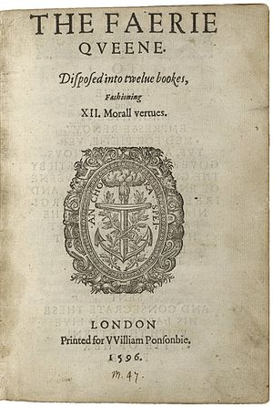 Alexandrine - Title page of Spenser's Faerie Queene (1590/1596)