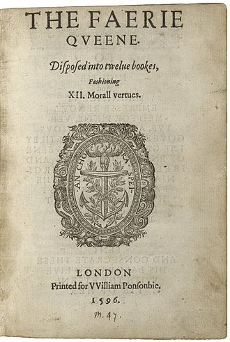 The Faerie Queene - The title page of The Faerie Queene, printed in 1596 for William Ponsonby