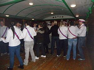 Sumba, Faroe Islands - Image: Faroese Chain Dance in Dansistovan in Sumba 2011