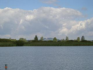 Federsee lake in Baden-Württemberg, Germany