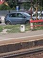 Felsőgöd train stop, sector 239 sign, 2020 Göd.jpg