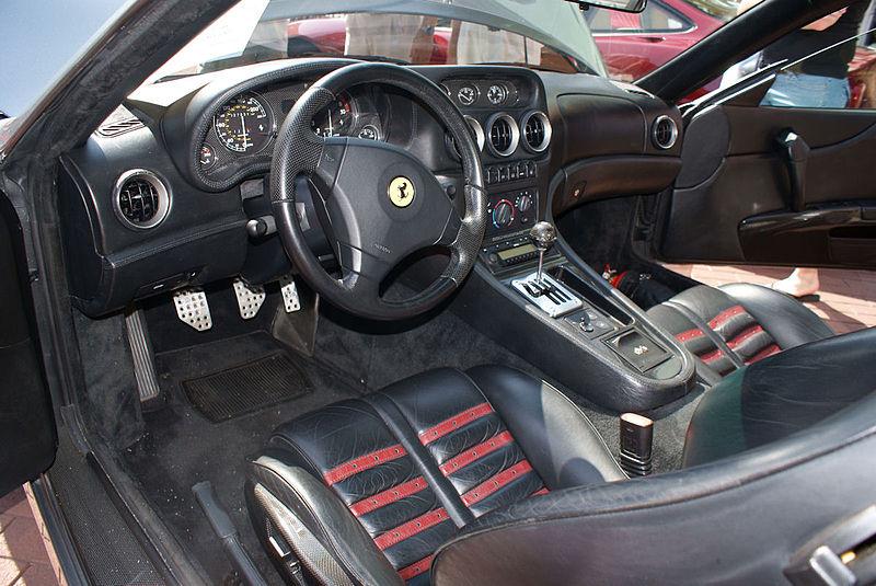 File:Ferrari 550 2000 Maranello Cockpit CECF 9April2011 (14577888286).jpg