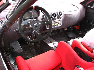Ferrari Challenge - The cockpit of a F430 Challenge carries only basic racing necessities.