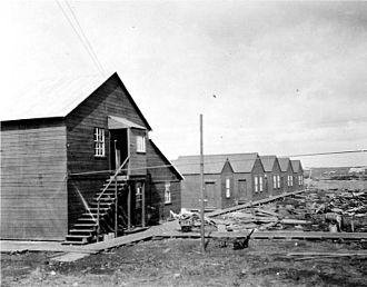 Filipino Americans - Quarters for Filipino workers at a salmon cannery in Nushagak, Alaska in 1917.