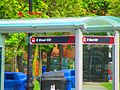 Film crew for the TV series 'Condor' rebranded this TTC stop, so it said 'R Street NW', 2017 05 30 -a (34889756452).jpg