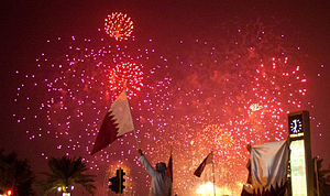 Qatar National Day - Fireworks celebration during Qatar National Day (2012)