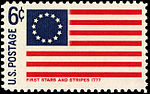 First Stars and Stripes Flag - Historic Flag Series - 6c 1968 issue U.S. stamp.jpg