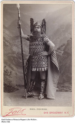Das Rheingold - Emil Fischer as Wotan at the 1889 New York premiere