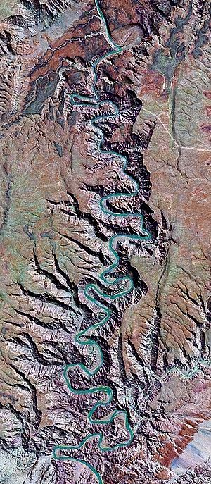 Fish River Canyon - Satellite image of the canyon