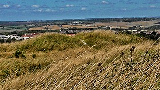 Dunstable Downs - View of the Five Knolls Barrow Cemetery, looking north.