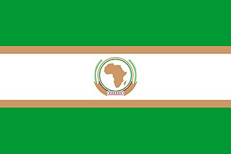 2008 invasion of Anjouan - Image: Flag of the Organization of African Unity (1970 2002)