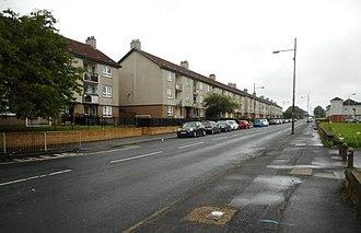Easterhouse - Image: Flats on Westerhouse Road (geograph 5872866)