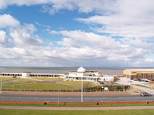 Fleetwood - Image: Fleetwood Mar 2008 Marine Hall and Gardens from the Mount