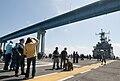Flickr - Official U.S. Navy Imagery - Friends and family watch USS Peleliu transits beneath the Coronado Bay Bridge.jpg