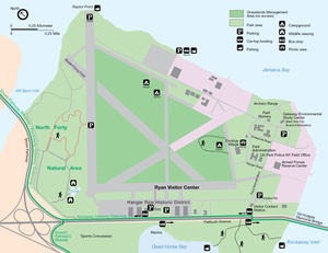 Floyd Bennett Field - 1998 map of Floyd Bennett Field from the National Park Service.