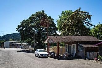 Flynn, Oregon - The former general store in Flynn, Oregon