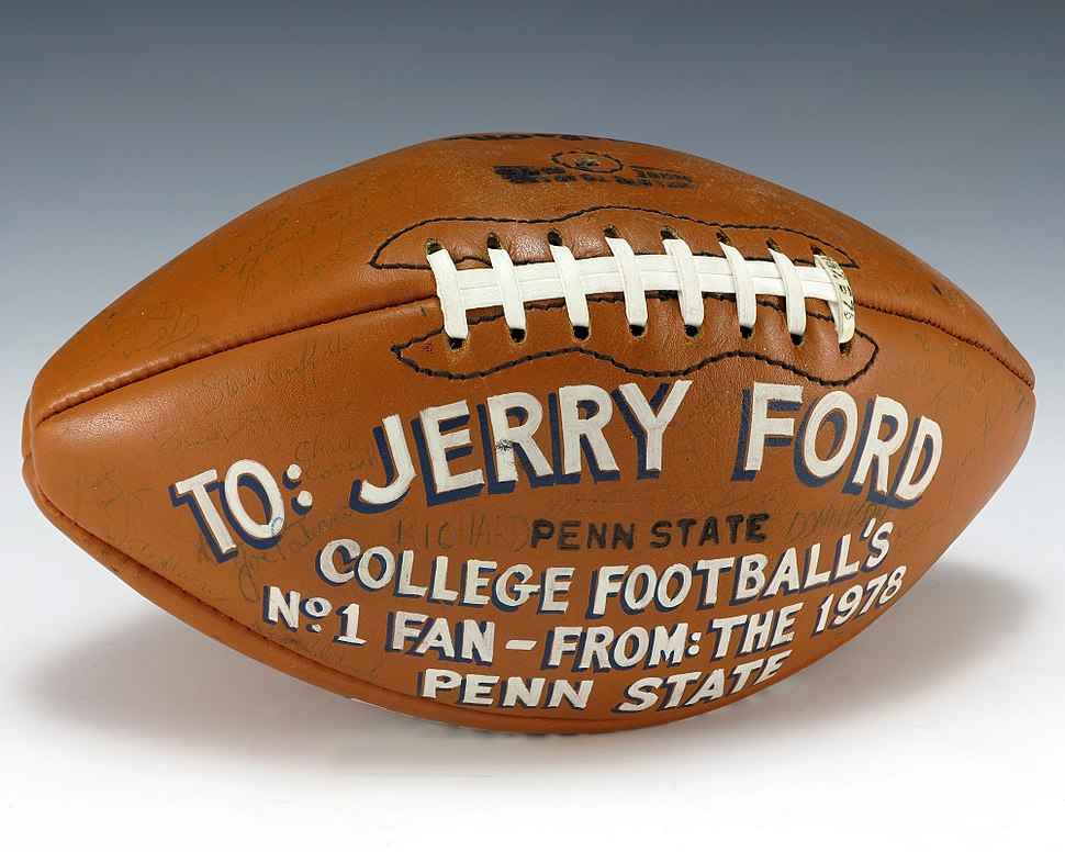 Football signed by 1978 Penn State Nittany Lions (1987.576)
