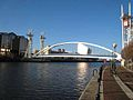 Footbridge over the Manchester Ship Canal - geograph.org.uk - 628189.jpg