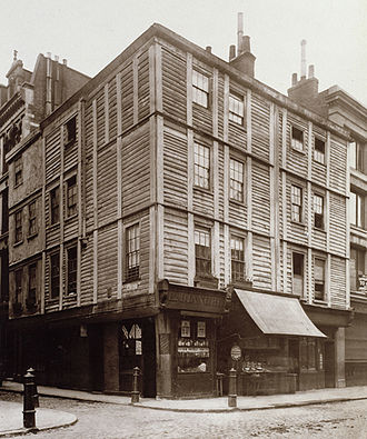 Fore Street, London - Bianchi's shop in Fore Street, London 1884
