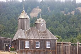 La chapelle reconstruite de Fort Ross