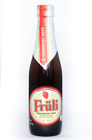 Fruli - A 250ml bottle of strawberry-flavoured Früli.