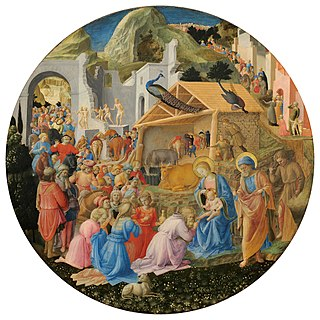 <i>Adoration of the Magi</i> (Fra Angelico and Filippo Lippi) painting by Fra Angelico en Filippo Lippi
