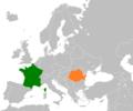 France Romania Locator.png