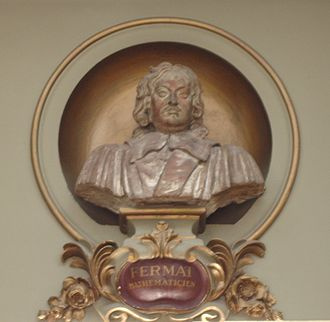 Pierre de Fermat - Bust in the Salle des Illustres in Capitole de Toulouse