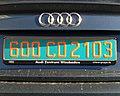 France diplomatic license plate 600 CD 2103.jpg